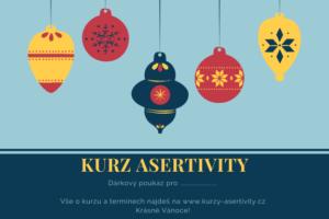 Vánoční dárek kurz asertivity